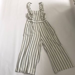 American Eagle striped jumpsuit